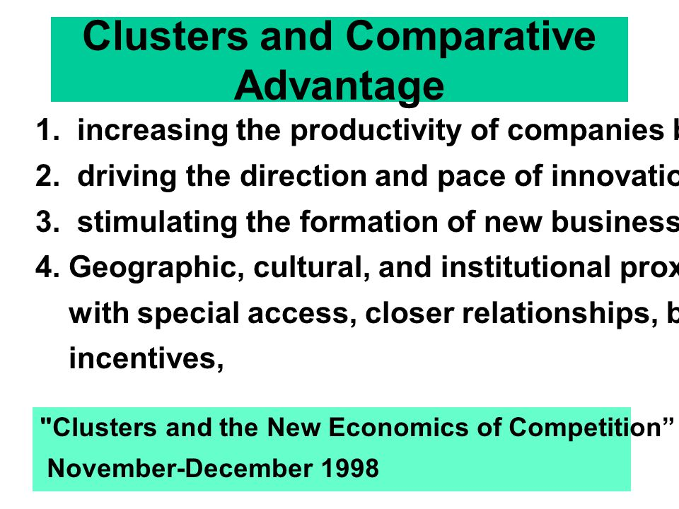 Clusters and Comparative Advantage