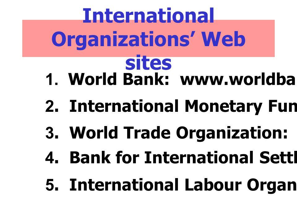 International Organizations' Web sites
