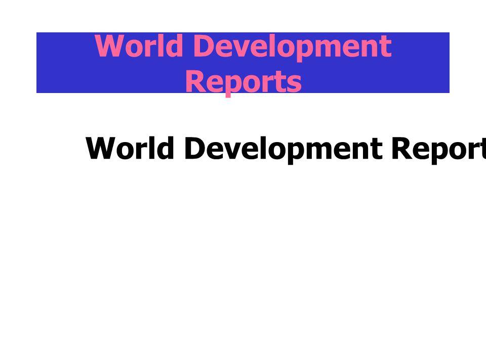 World Development Reports