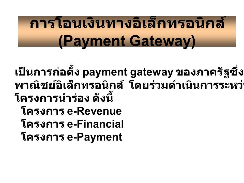 การโอนเงินทางอิเล็กทรอนิกส์ (Payment Gateway)
