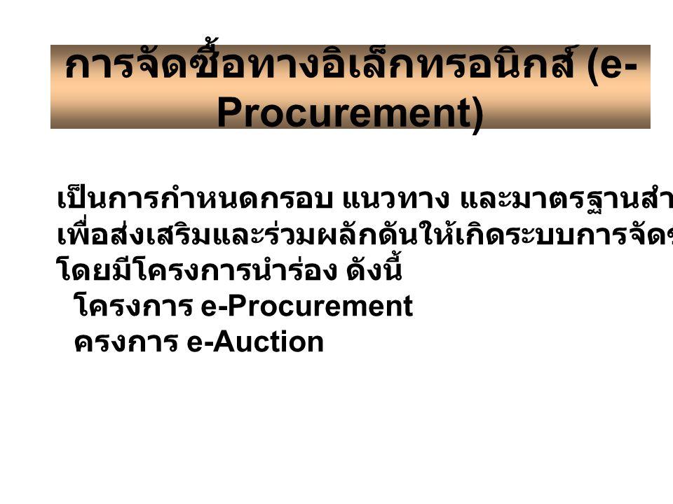 การจัดซื้อทางอิเล็กทรอนิกส์ (e-Procurement)