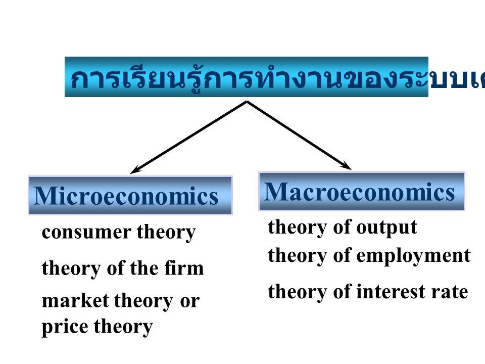 การเรียนรู้การทำงานของระบบเศรษฐกิจ