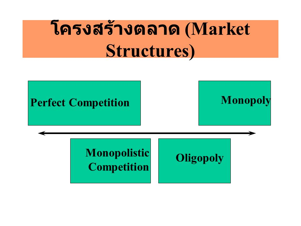 โครงสร้างตลาด (Market Structures)