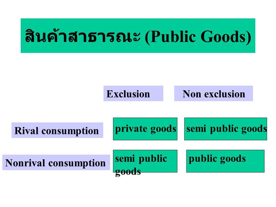 สินค้าสาธารณะ (Public Goods)