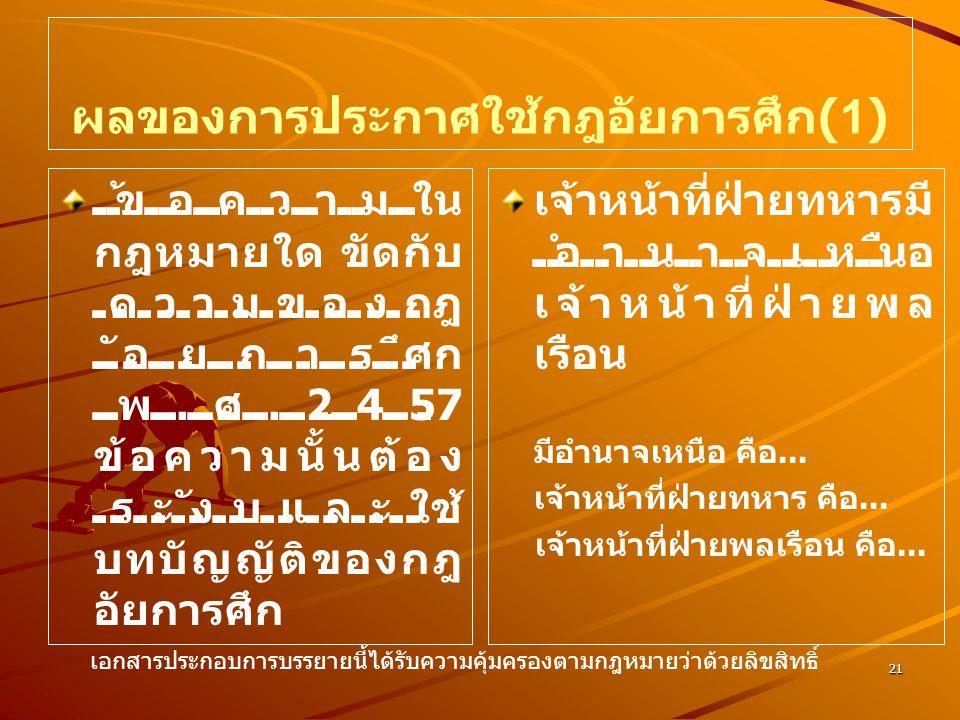 ผลของการประกาศใช้กฎอัยการศึก(1)