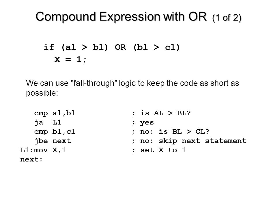 Compound Expression with OR (1 of 2)