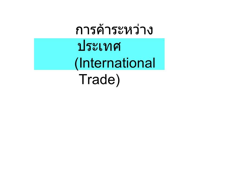 การค้าระหว่างประเทศ (International Trade)