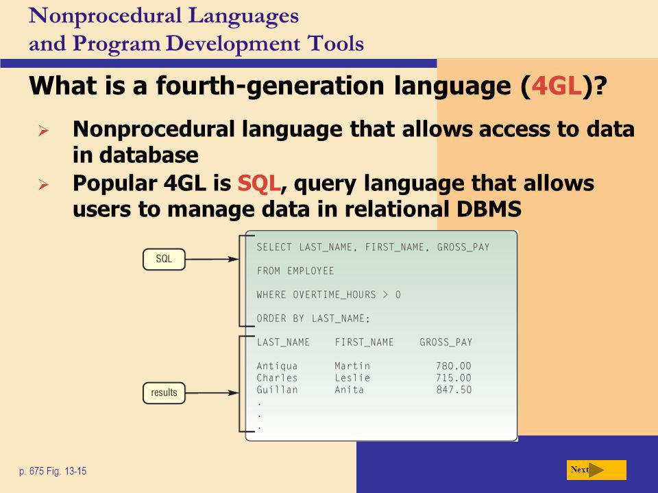 Nonprocedural Languages and Program Development Tools