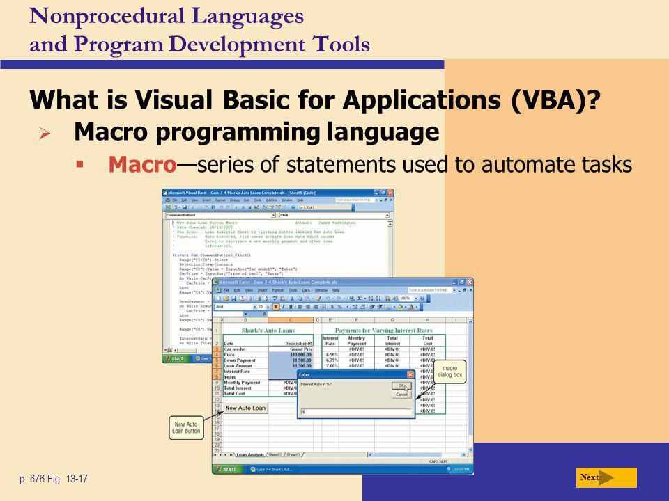 Nonprocedural Languages and Program Development Tools