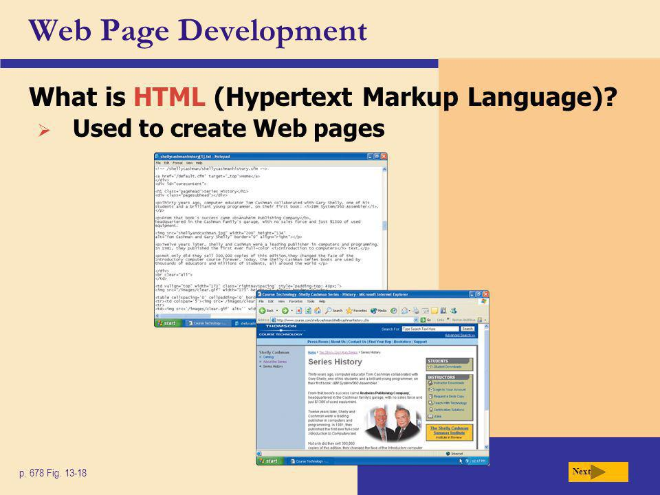 Web Page Development What is HTML (Hypertext Markup Language)