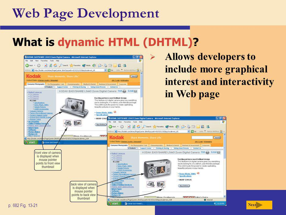 Web Page Development What is dynamic HTML (DHTML)