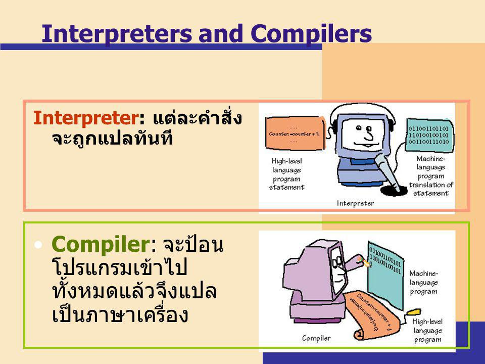 Interpreters and Compilers