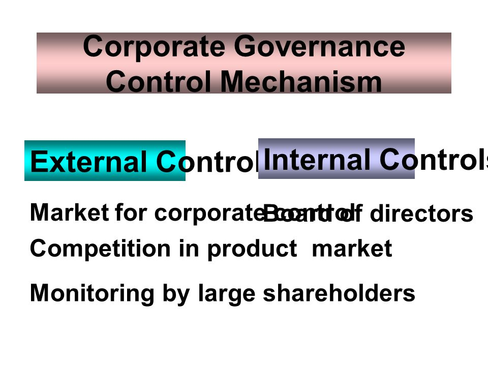 Corporate Governance Control Mechanism