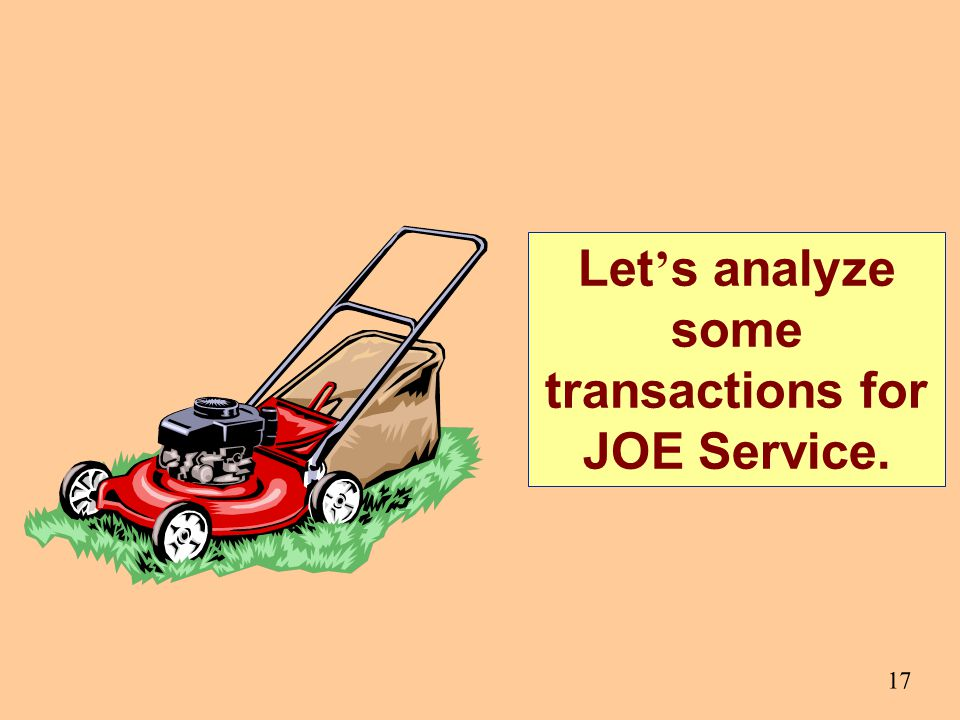 Let's analyze some transactions for JOE Service.