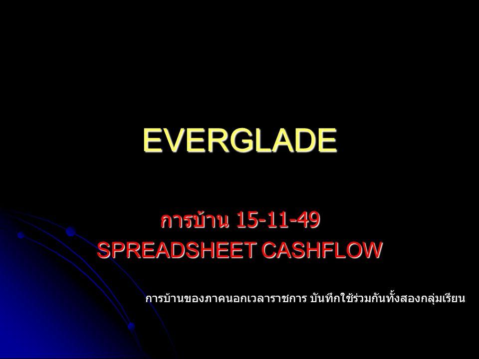 การบ้าน 15-11-49 SPREADSHEET CASHFLOW