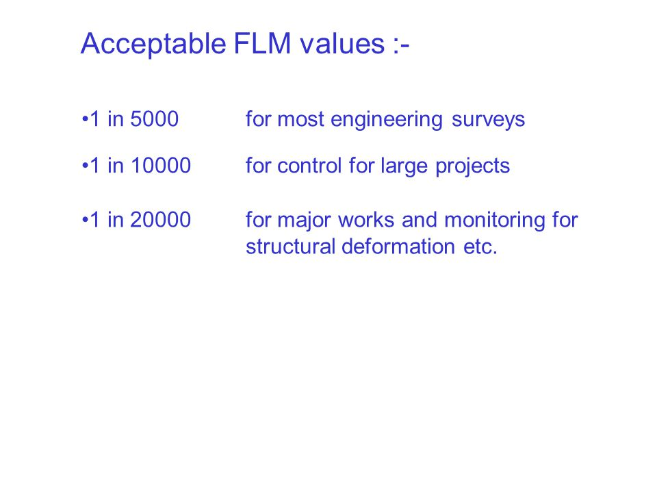 Acceptable FLM values :-