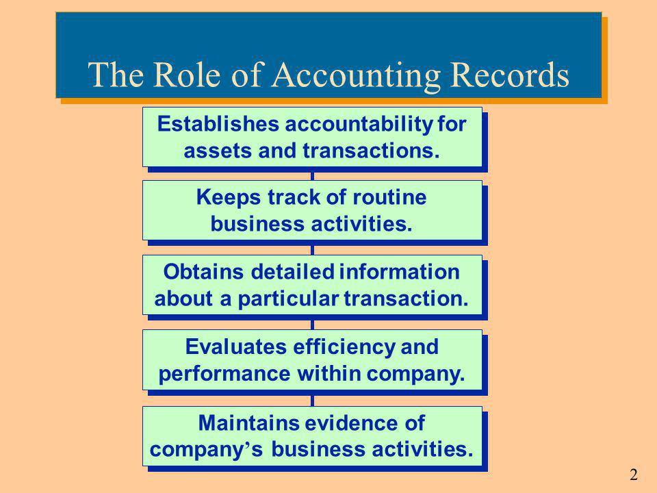 The Role of Accounting Records