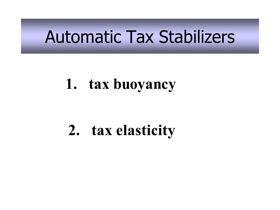 Automatic Tax Stabilizers