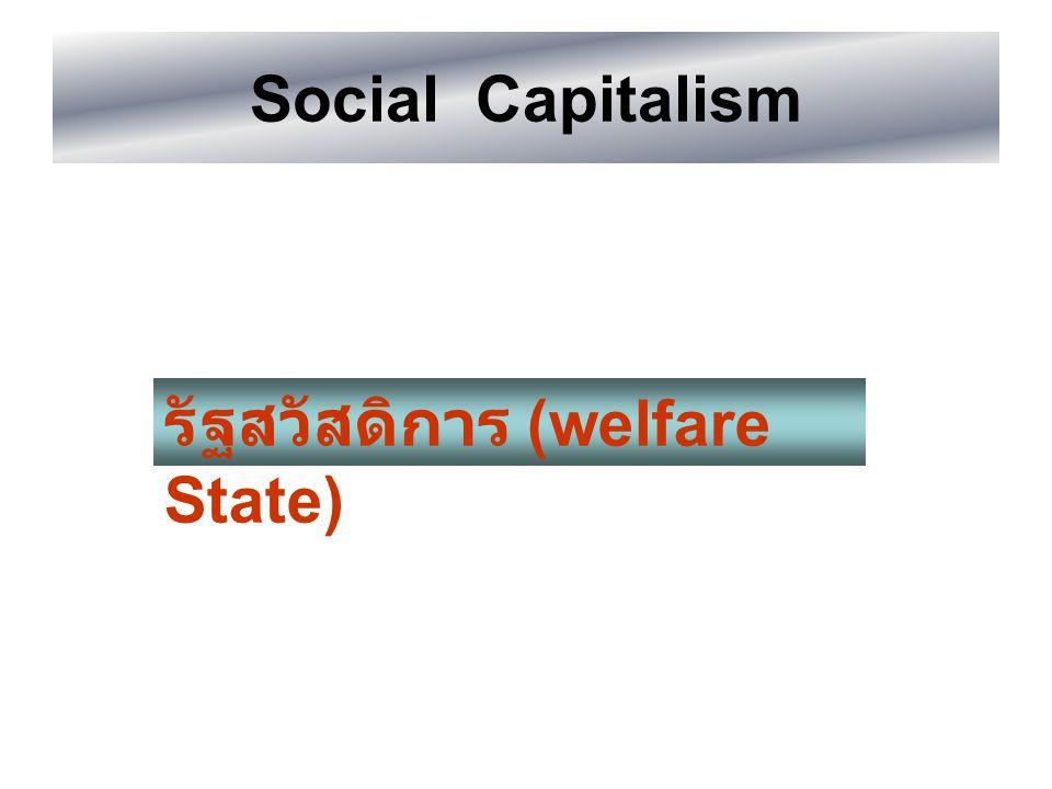 Social Capitalism รัฐสวัสดิการ (welfare State)