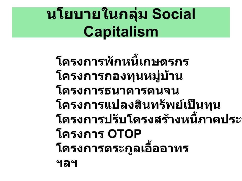 นโยบายในกลุ่ม Social Capitalism