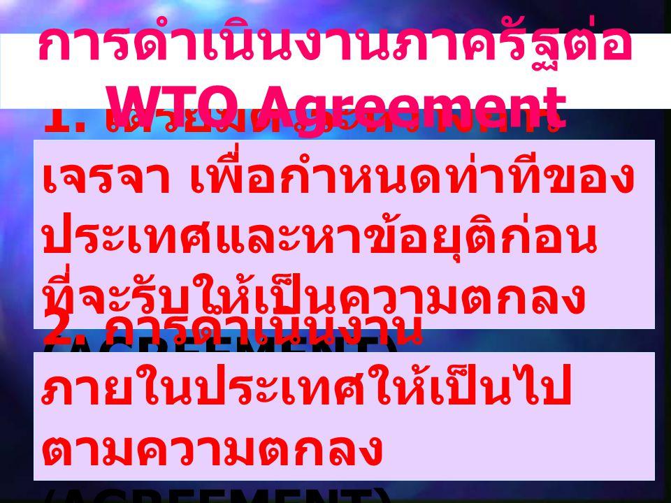 การดำเนินงานภาครัฐต่อ WTO Agreement