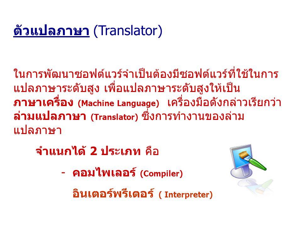 ตัวแปลภาษา (Translator)