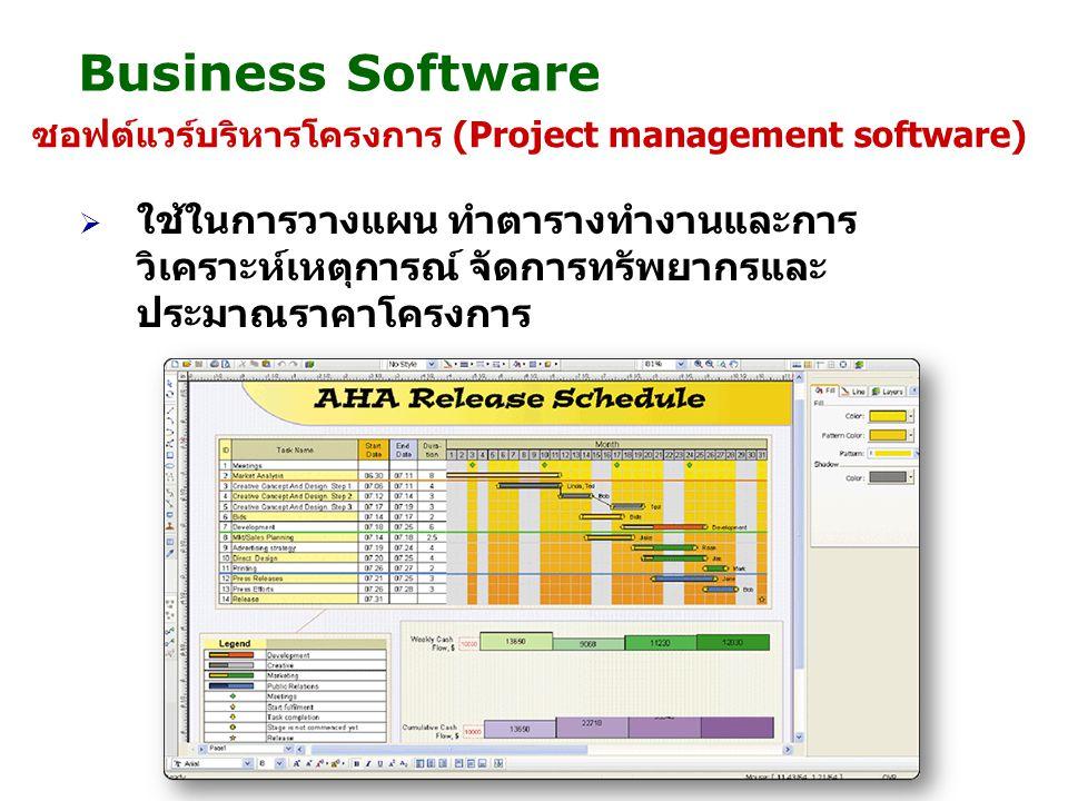 Business Software ซอฟต์แวร์บริหารโครงการ (Project management software)