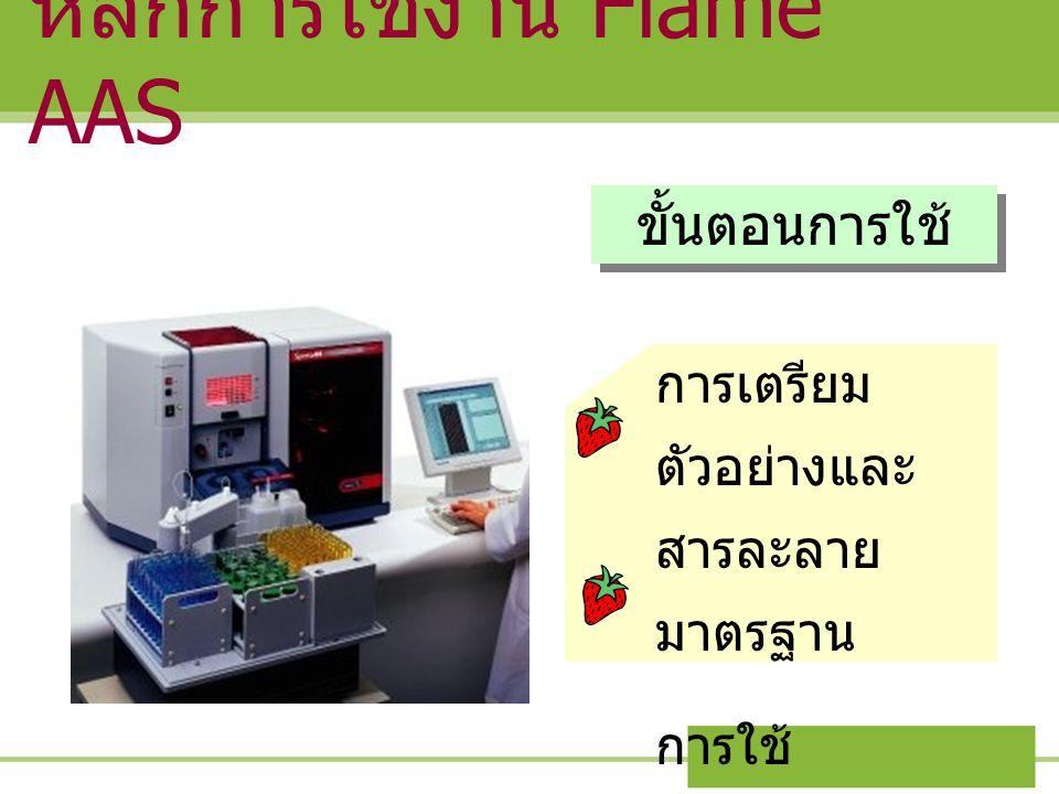 หลักการใช้งาน Flame AAS