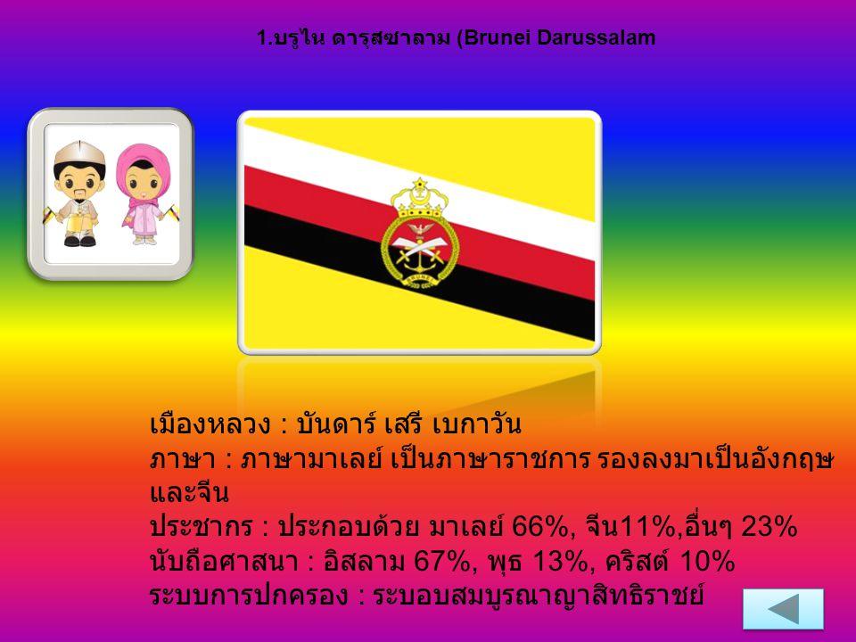 1.บรูไน ดารุสซาลาม (Brunei Darussalam