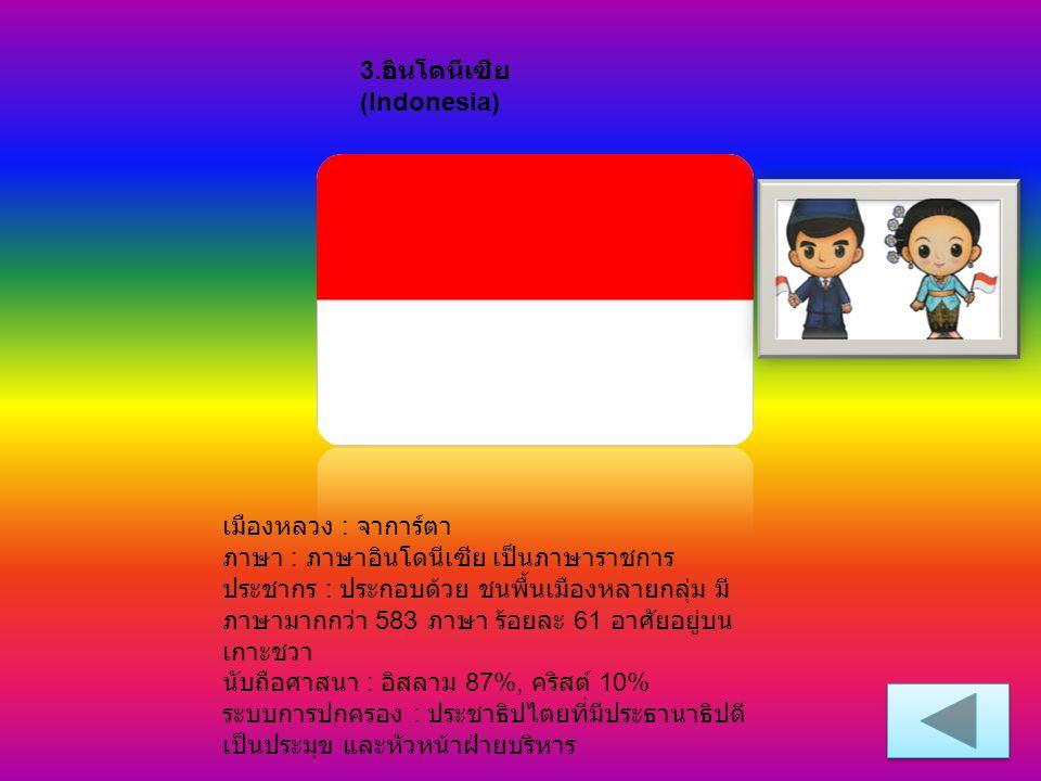 3.อินโดนีเซีย (Indonesia)