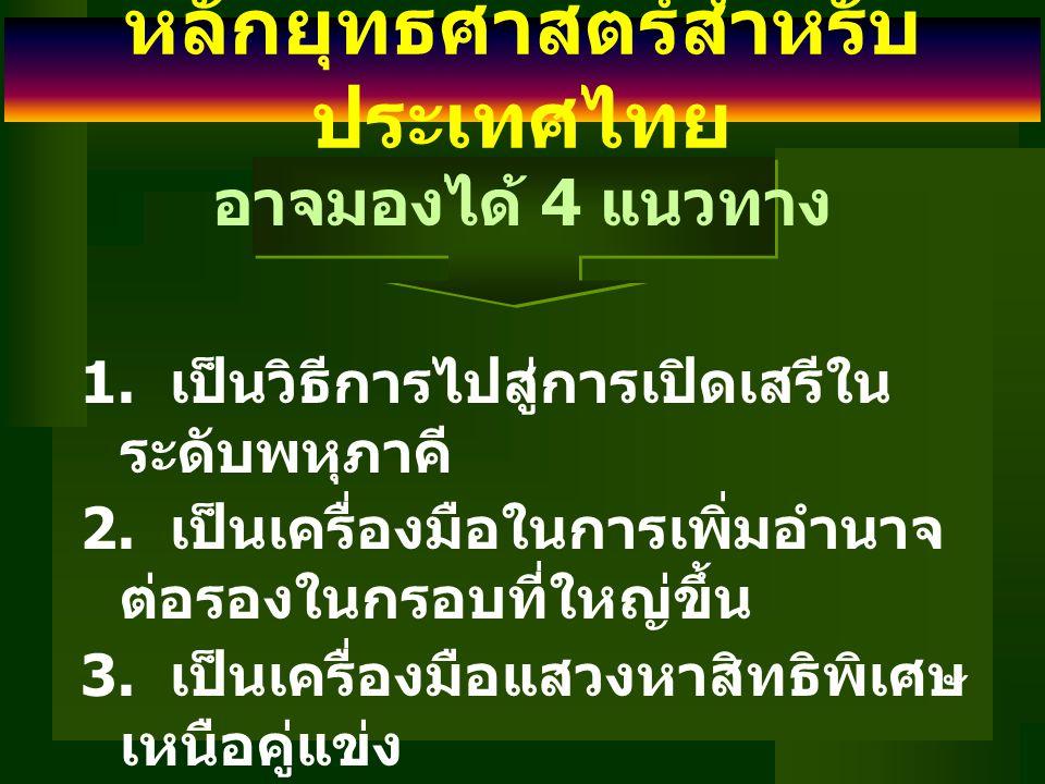 หลักยุทธศาสตร์สำหรับประเทศไทย