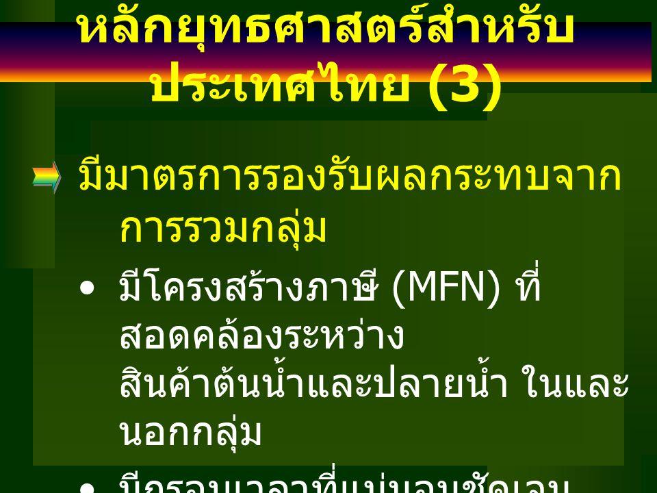 หลักยุทธศาสตร์สำหรับประเทศไทย (3)
