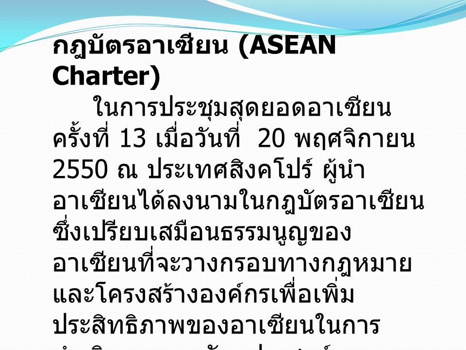 กฎบัตรอาเซียน (ASEAN Charter)