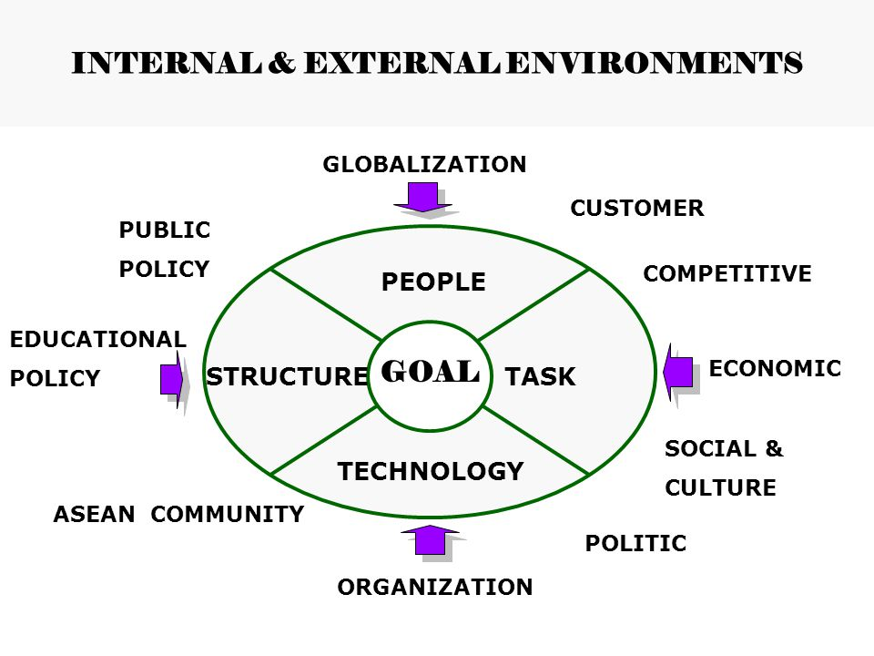 INTERNAL & EXTERNAL ENVIRONMENTS