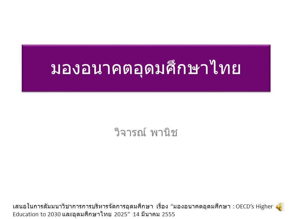 มองอนาคตอุดมศึกษาไทย