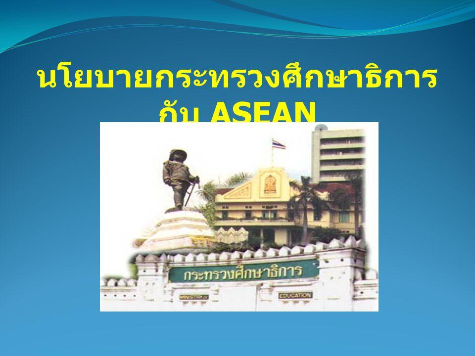 นโยบายกระทรวงศึกษาธิการกับ ASEAN
