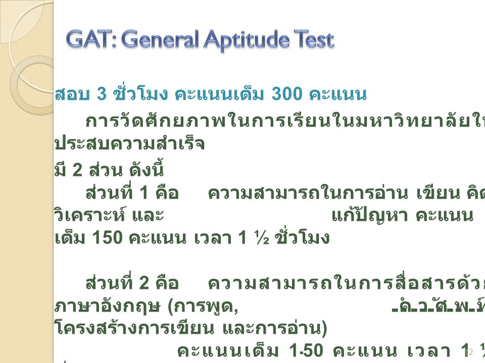 GAT: General Aptitude Test