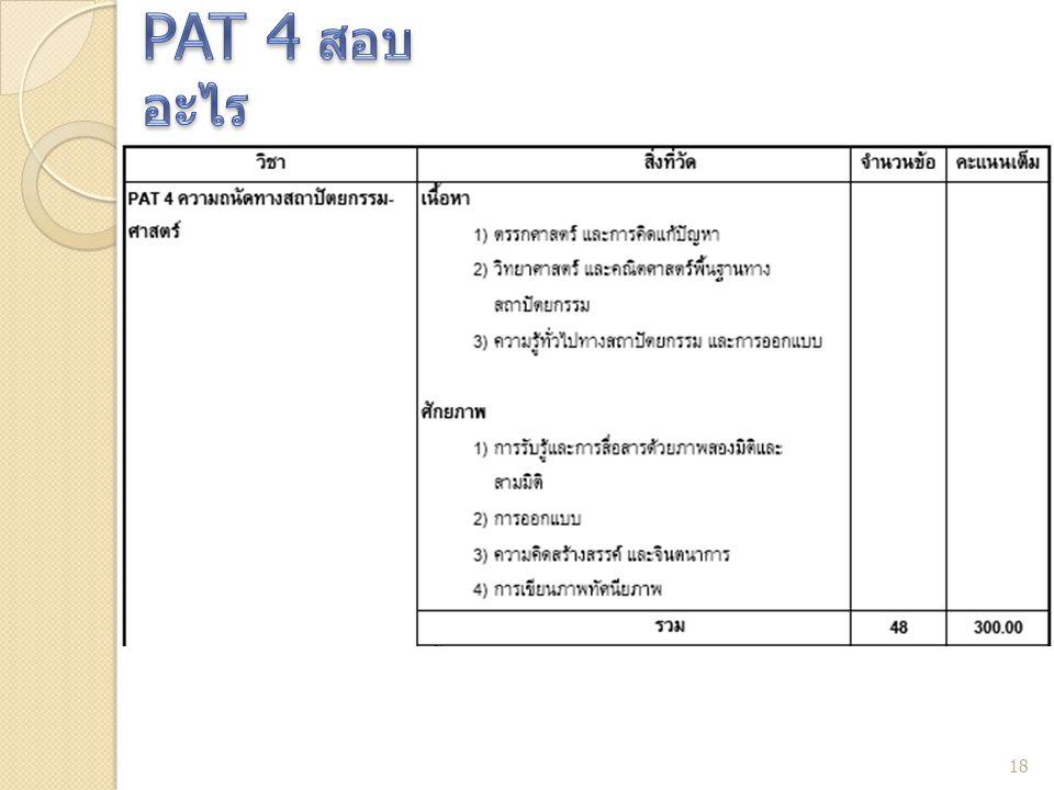 PAT 4 สอบอะไร