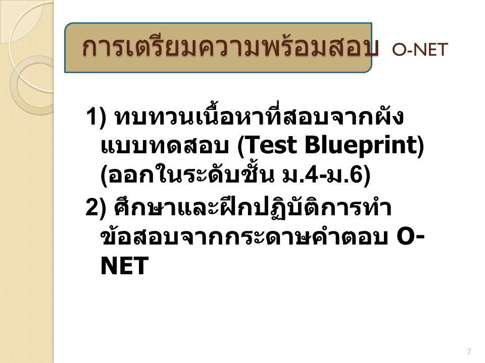 การเตรียมความพร้อมสอบ O-NET
