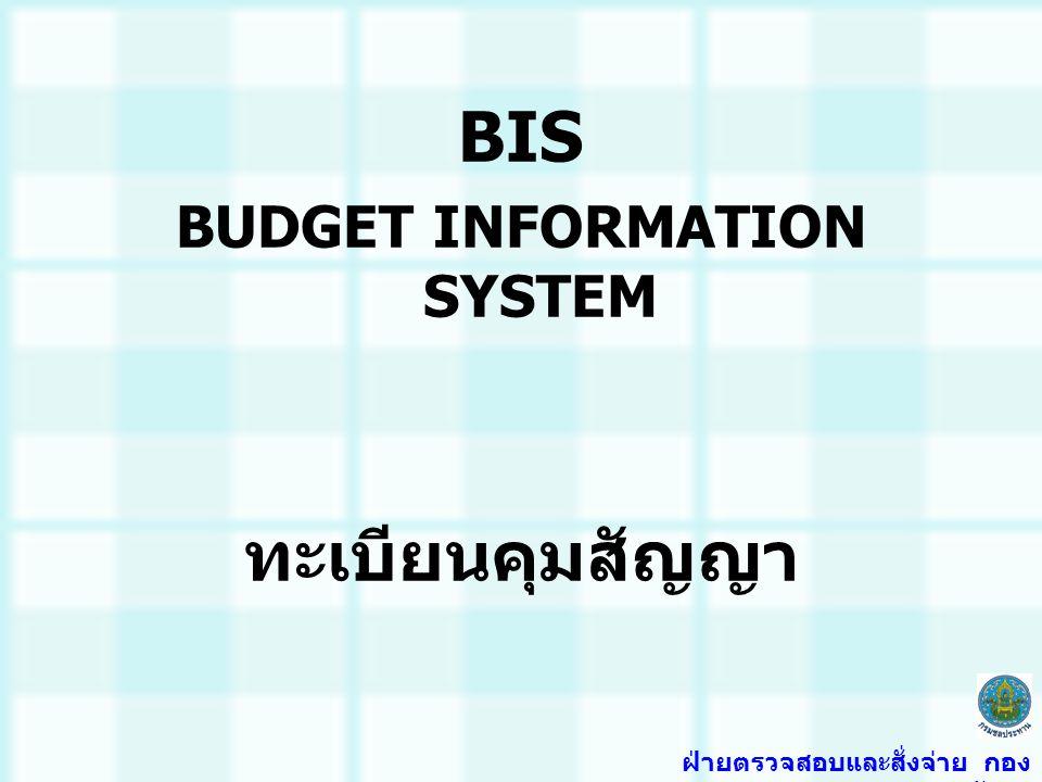 BUDGET INFORMATION SYSTEM