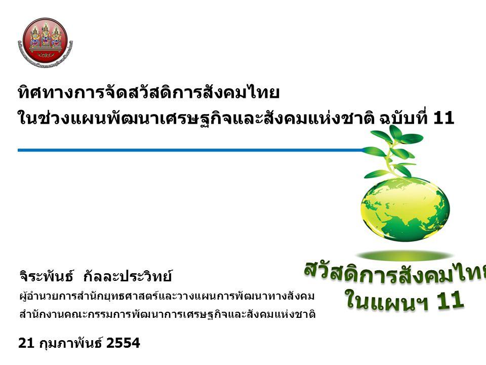 สวัสดิการสังคมไทย ในแผนฯ 11
