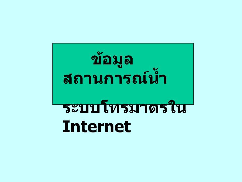ข้อมูลสถานการณ์น้ำ ระบบโทรมาตรใน Internet