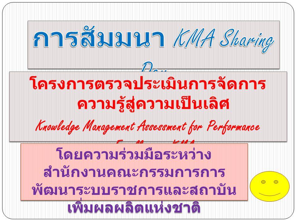 การสัมมนา KMA Sharing Day