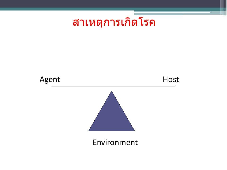 สาเหตุการเกิดโรค Environment Agent Host