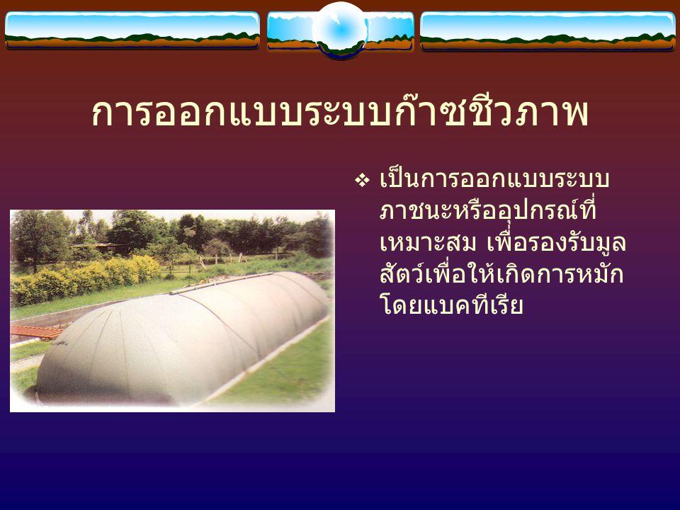 การออกแบบระบบก๊าซชีวภาพ