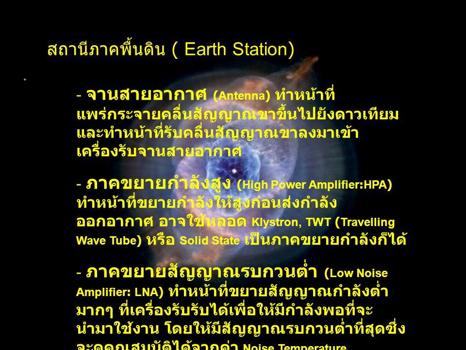 สถานีภาคพื้นดิน ( Earth Station)