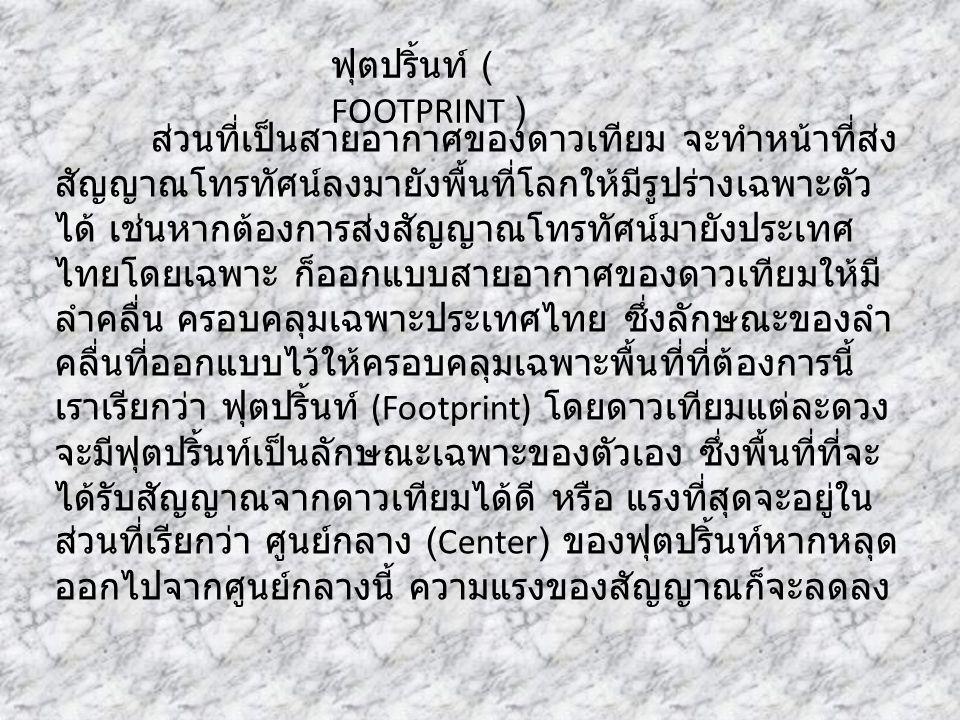 ฟุตปริ้นท์ ( FOOTPRINT )