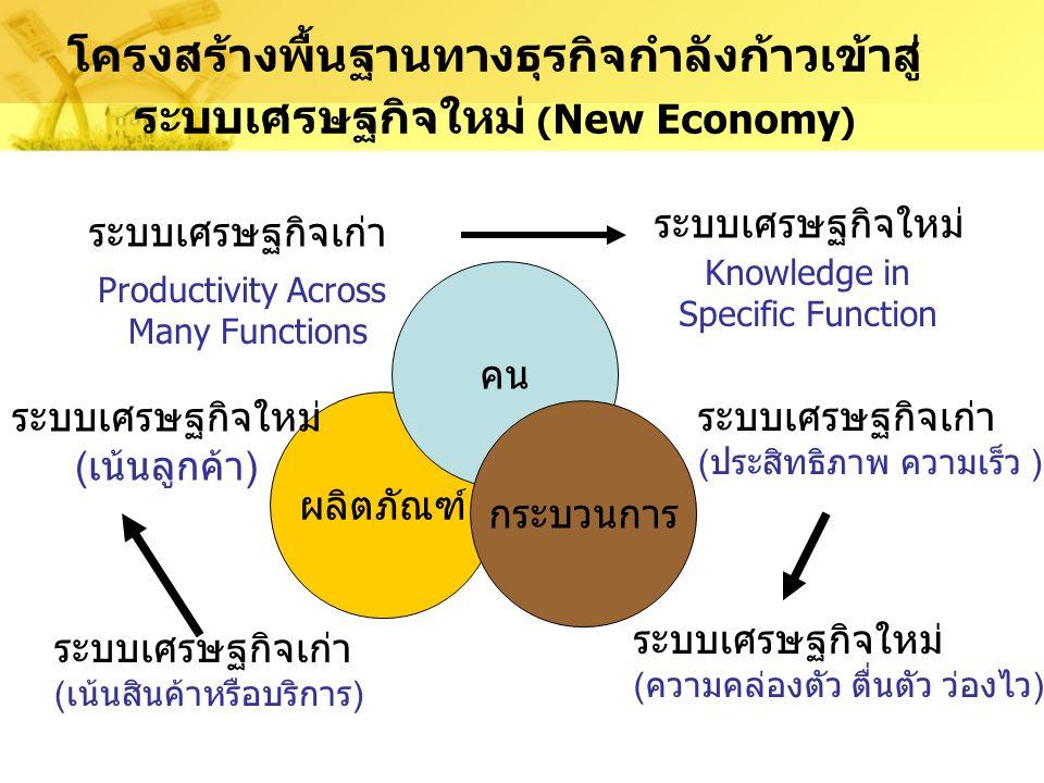 โครงสร้างพื้นฐานทางธุรกิจกำลังก้าวเข้าสู่ ระบบเศรษฐกิจใหม่ (New Economy)