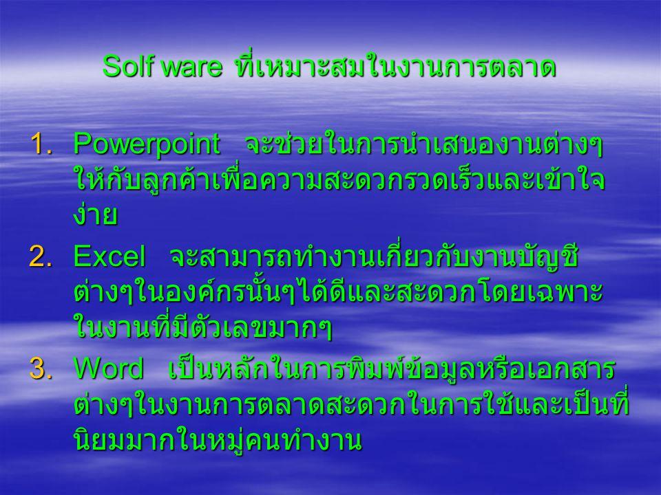 Solf ware ที่เหมาะสมในงานการตลาด