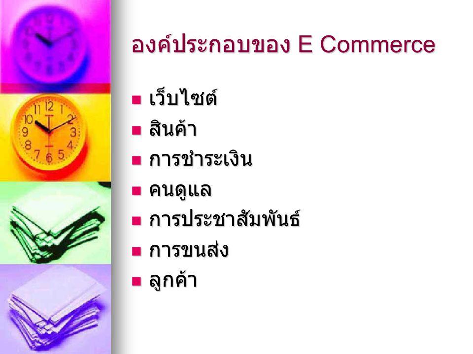 องค์ประกอบของ E Commerce